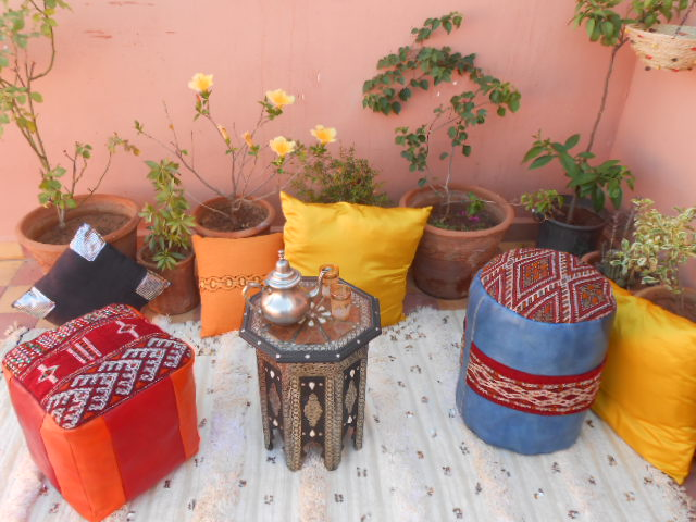Poufs marocains