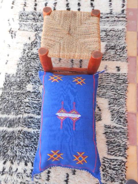 Housse de coussin SABRA bleu